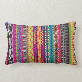 Colorful Tribal Aztec Pattern Lumbar Cushion
