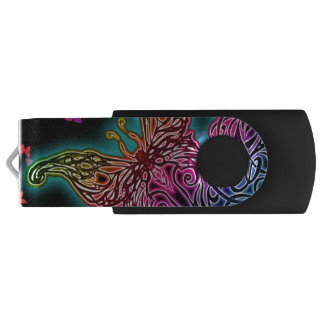 Colorful Tribal Butterfly USB USB Flash Drive