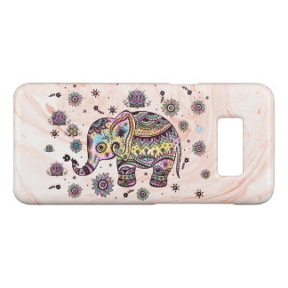 Colorful Tribal Elephant Marble Swirls Background Case-Mate Samsung Galaxy S8 Case