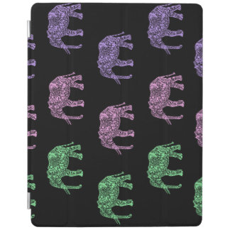 colorful tribal floral boho elephant pattern iPad cover