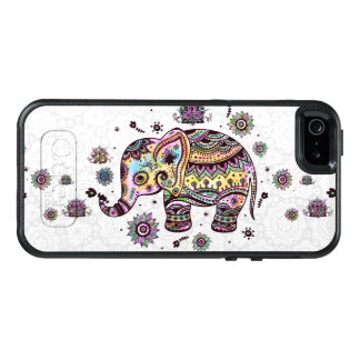 Colorful Tribal Flowers Elephant Illustration OtterBox iPhone 5/5s/SE Case