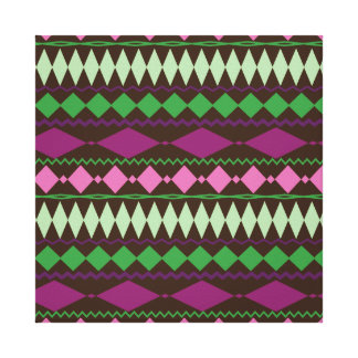 Colorful Tribal Geometric Pattern Design Stretched Canvas Prints