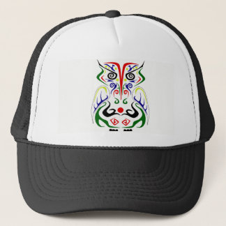 COLORFUL TRIBAL OWL TATTOO DESIGN BALL CAP/HAT TRUCKER HAT