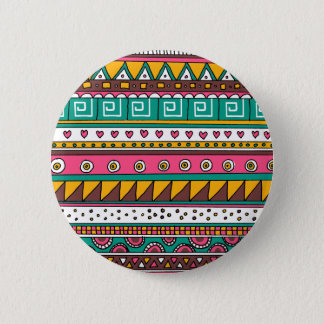 Colorful Tribal pattern 6 Cm Round Badge