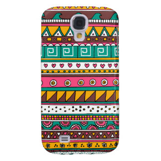Colorful Tribal pattern Galaxy S4 Case
