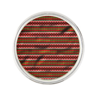 Colorful tribal pattern lapel pin