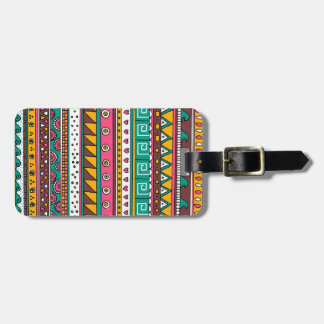 Colorful Tribal pattern Luggage Tag