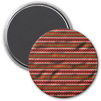 Colorful tribal pattern fridge magnets