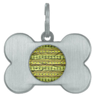 Colorful tribal pattern pet ID tag