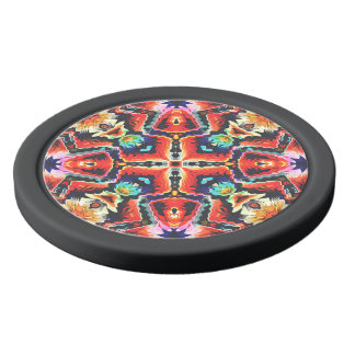 Colorful Tribal Pattern Poker Chips