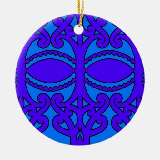 Colorful tribal patterns from New Zealand Christmas Tree Ornaments