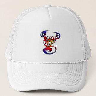 COLORFUL TRIBAL STYLE SCORPION TRUCKER HAT