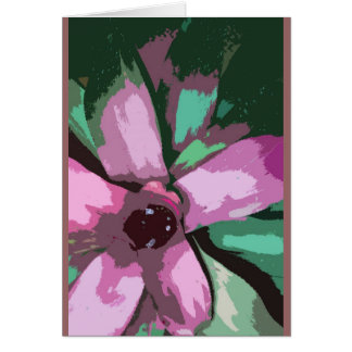 Colorful tropical bromeliad card