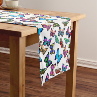 Colorful Tropical Butterflies Table Runner