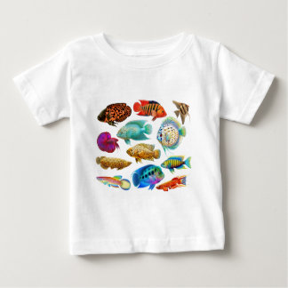 Colorful Tropical Fish Baby T-Shirt