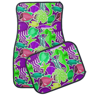 Colorful Tropical Fish Pattern 5 Car Mat