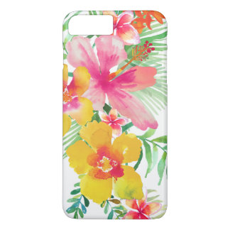 Colorful Tropical Flowers Bouquet 2 iPhone 8 Plus/7 Plus Case