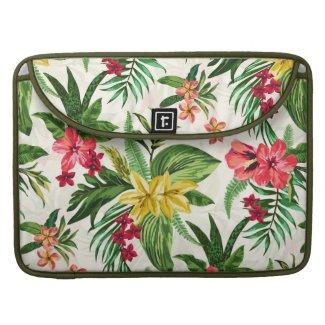Colorful Tropical Flowers MacBook Pro Sleeves