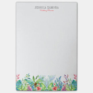 Colorful Tropical Flowers Post-it Notes