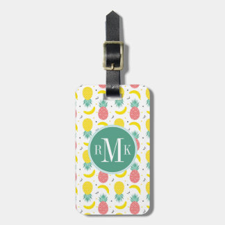 Colorful Tropical Fruit Pattern Luggage Tag