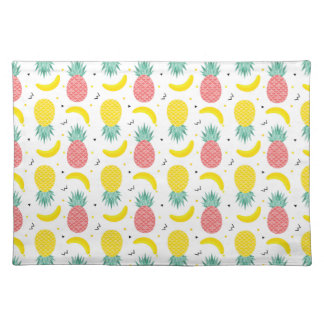 Colorful Tropical Fruit Pattern Placemat