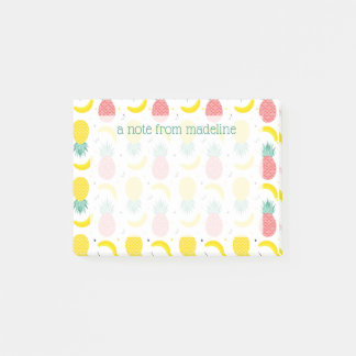 Colorful Tropical Fruit Pattern Post-it Notes