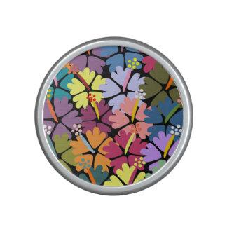 Colorful Tropical Hibiscus Speaker
