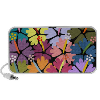 Colorful Tropical Hibiscus Speakers