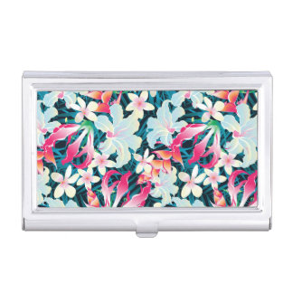 Colorful Tropical Pattern Business Card Holder