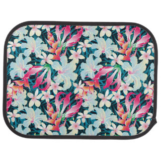 Colorful Tropical Pattern Car Mat