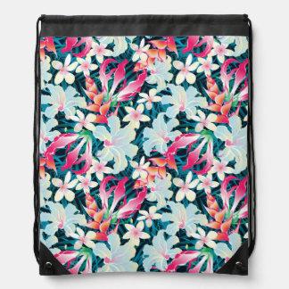Colorful Tropical Pattern Drawstring Bag