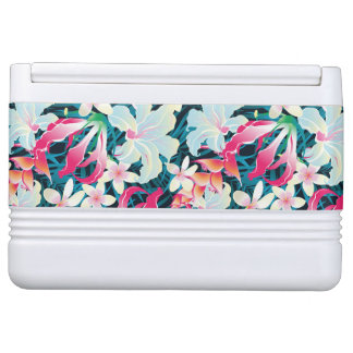 Colorful Tropical Pattern Igloo Cooler