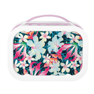 Colorful Tropical Pattern Lunch Boxes