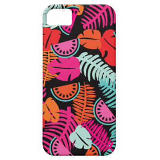 Colorful tropical summer melon and forest pattern iPhone 5/5S covers