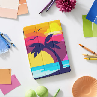 Colorful Tropical Sunset & Palm Tree iPad Air Case iPad Air Cover