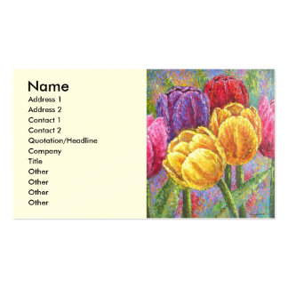 Colorful Tulip Flowers Painting Art - Multi Pack Of Standard Business Cards