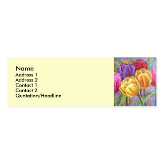 Colorful Tulip Flowers Painting Art - Multi Pack Of Skinny Business Cards
