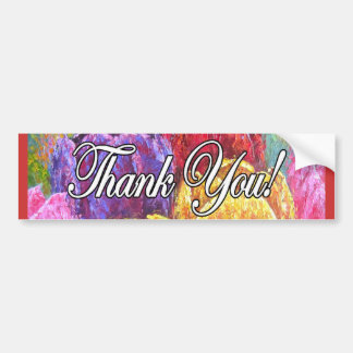 Colorful Tulip Flowers Thank You Items - Multi Bumper Sticker
