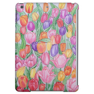 Colorful Tulips Drawing iPad Air Case