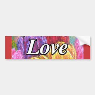 Colorful Tulips Flowers Painting Art - Multi Bumper Sticker