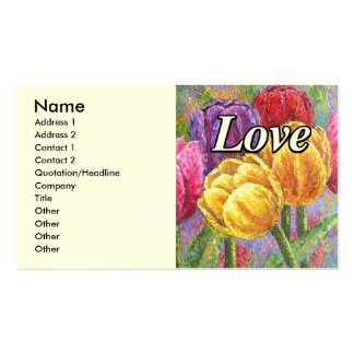 Colorful Tulips Flowers Painting Art - Multi Pack Of Standard Business Cards