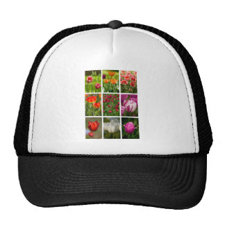 Colorful Tulips Mesh Hats