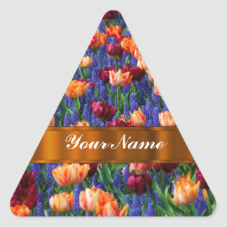 Colorful tulips stickers