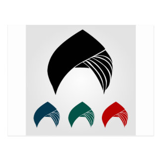 Colorful turbans or headgear postcard