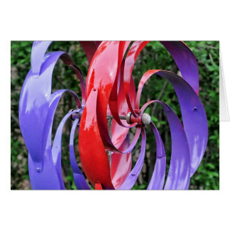 Colorful Turbine Blades Card