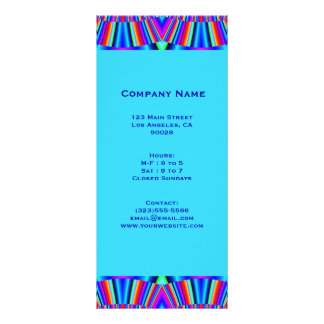 colorful turquoise blue rack card