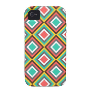 Colorful Turquoise Pink Aztec Native American Gift Case For The iPhone 4