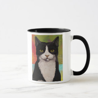 Colorful Tuxedo Cat Mug