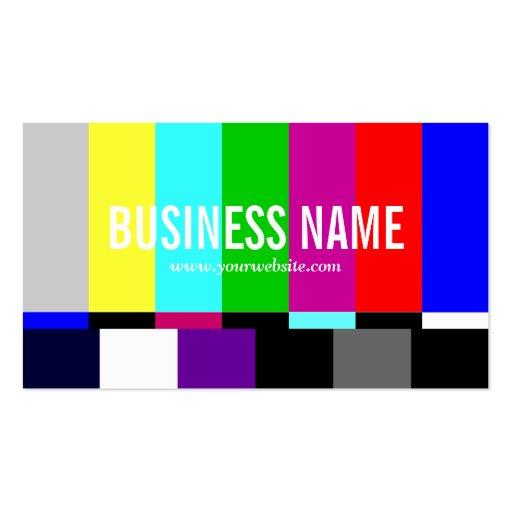 Colorful TV Spectrum Business Card