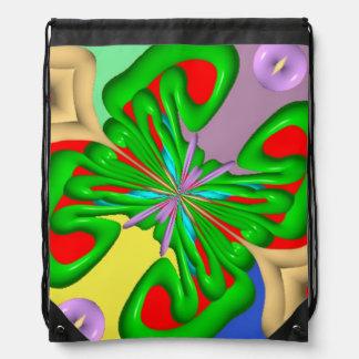 Colorful Ugly art Backpacks